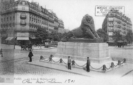 663 Le lion de Belfort ( 1901)