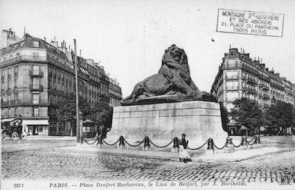 664 Place Denfert Rochereau, le Lion de Belfort par Bartholdi