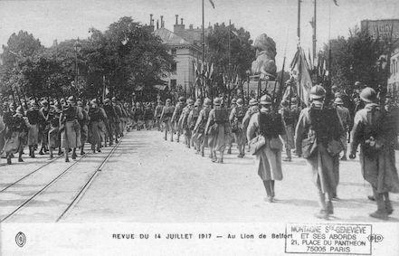 666 revue du 14 juillet 1917 au Lion de Belfort