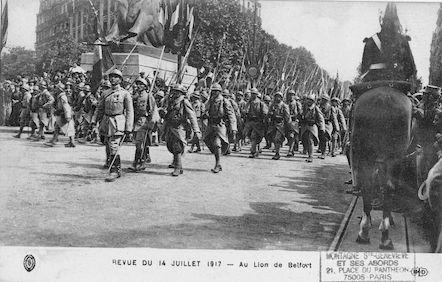667 Revue du 14 juillet 1917 Au Lion de Belfort