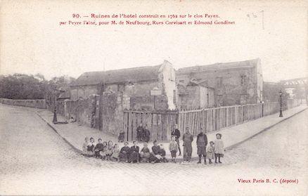 672 Ruines de l'hôtel construit en 1762 sur le clos Payen