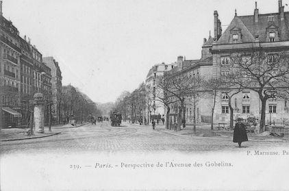 679 Perspective de l'avenue des Gobelins