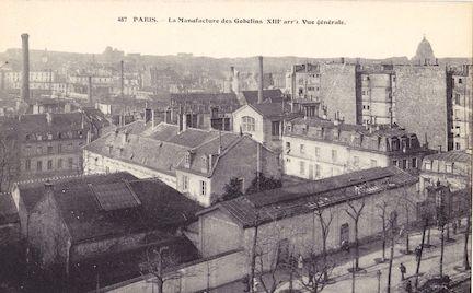 686 La Manufacture des Gobelins. Vue générale