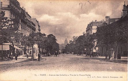 699 Avenue des Gobelins vue de la place d'Italie