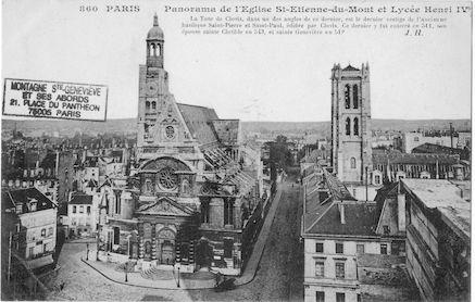 70 Panorama de l'église St Etienne du Mont et lycée Henri IV