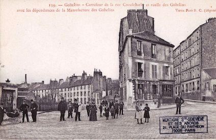 708 Carrefour de la rue Croulebarbe et de la ruelle des Gobelins