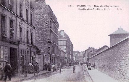 721 Rue du Chevaleret  - Sortie des ateliers P O