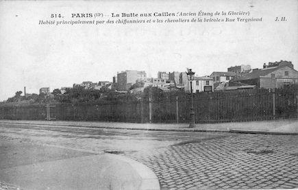 726 La Butte -aux-cailles. Ancien étang de la Glaciaire. Rue Vergniaud