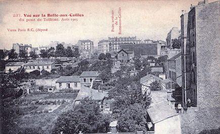 731 Vue sur la Butte-aux-cailles du pont de Tolbiac. Aout 1905