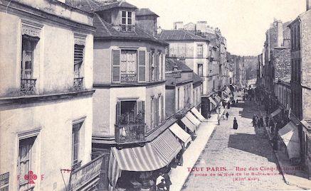 735 Rue des cinq-diamants prise de la rue de la Butte-aux-cailles
