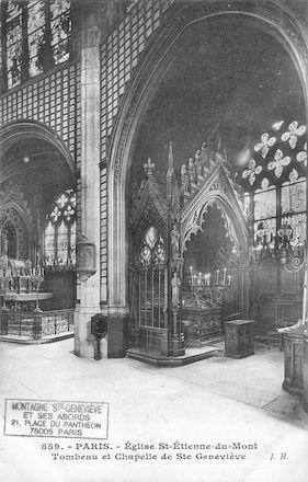 75 Eglise St Etienne-du  Mont. Tombeau et chapelle de Ste Genevièver