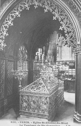76 Eglise St Etienne-du-Mont. Chapelle et tombeau de Ste Geneviève