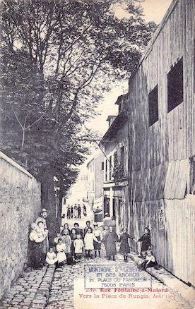 763 Rue Fontaine-à-Mulard vers la place de Rungis. Aout 1905