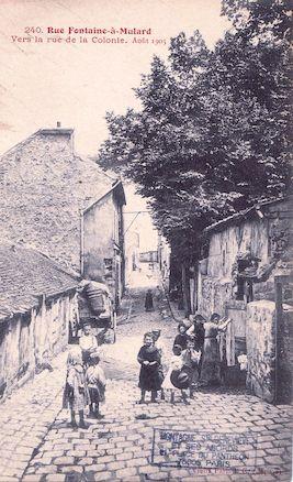 764 Rue Fontaine-à-Mulard vers la rue de la Colonie. Aout 1905