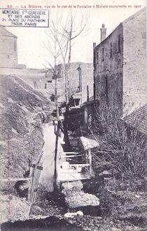 766. La Bièvre vue de la rue e la Fontaine Mulard