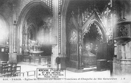 77 Eglise St Etienne-du-Mont. Chapelle et tombeau de Ste Geneviève