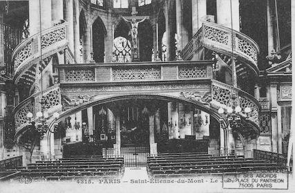 80 Eglise St Etienne-du-Mont. Le jubé de l'église