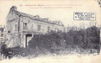 802.  Ruines de l'hôtel de M. de Neufbourg 68 bld d'Italie
