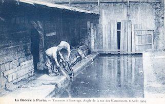 803. Bièvre à Paris. Tanneurs à l'ouvrage en aout 1904