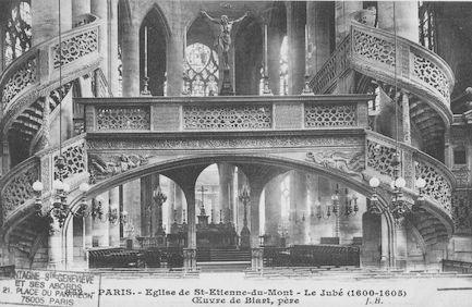 81 Eglise St Etienne-du-Mont. Le jubé de l'église