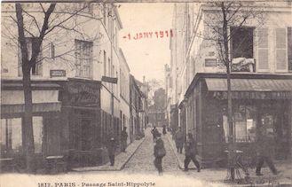 821.  Passage Saint Hippolyte