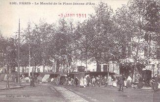 827. Le marché de la place Jeanne d'Arc