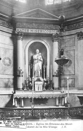 84  Eglise St Etienne-du-Mont. Autel de la Ste Vierge