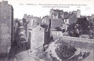 842. Rue du Moulin des Près et passage Vandrezanne