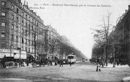 870 Boulevard Saint Marcel, pris de l'avenue des Gobelins