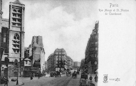 881 Rue Monge et église St. Nicolas de Chardonnet