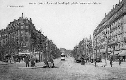 883 Boulevard Port Royal, pris de l'avenue des Gobelins