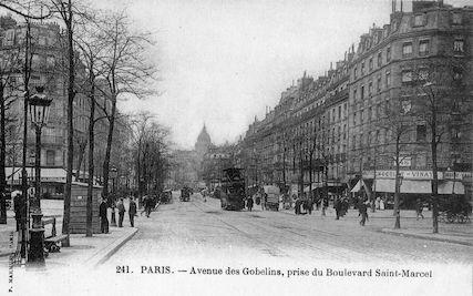 888 Avenue des Gobelins, prise du Boulevard Saint-Marcel