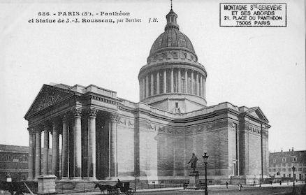 89 Panthéon et statue de J.J Rousseau