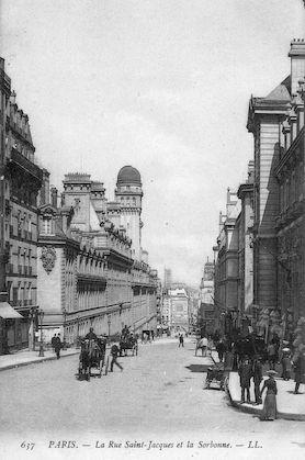 896 La Rue Saint-Jacques et la Sorbonne