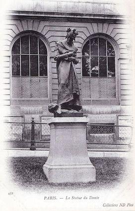 898 La Statue de Dante devant le Collège de France