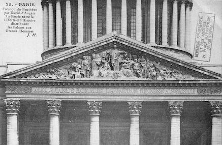 90. PAnthéon. Fronton de David D'Angers
