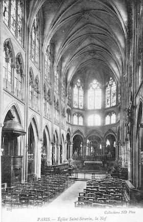 909 Eglise Saint Séverin, la Nef