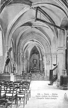 918 Eglise-St-Julien-le-pauvre. Chapelle St Joseph