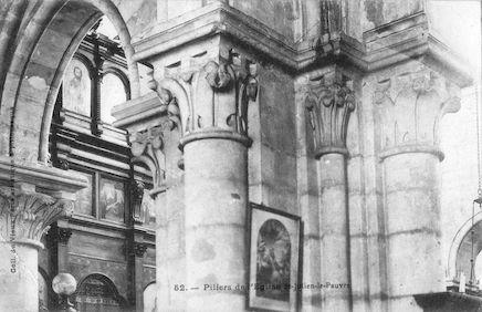 921 Eglise Saint Julien-le-pauvre. Piliers