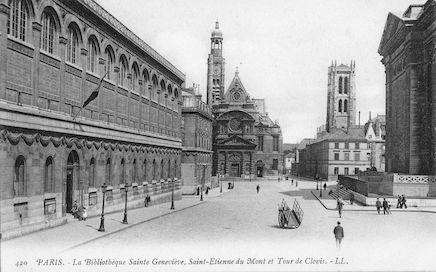 925 Bibliothèque Sainte Geneviève, Eglise Saint Etienne-du-Mont et Tour de Clovis