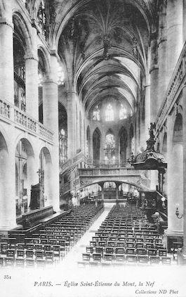 932 La nef de l'Eglise Saint Etienne-du-Mont