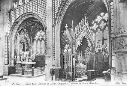 933 Eglise Saint Etienne-du-Mont. Chapelle et tombeau de Sainte Geneviève