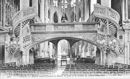 934 Eglise Saint Etienne-du-Mont. Jubé et chasse de Sainte Geneviève