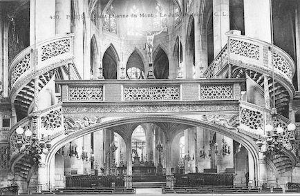 935 Eglise Saint Etienne-du-Mont. Le jubé de face