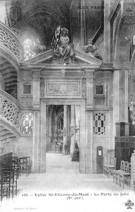 937 Eglise Saint Etienne-du-Mont. La porte du Jubé