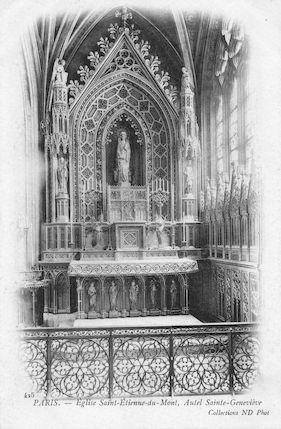 938 Eglise Saint Etienne-du-Mont. Autel de Sainte Geneviève
