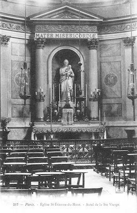 939 Eglise Saint Etienne-du-Mont.  Autel de la Vierge