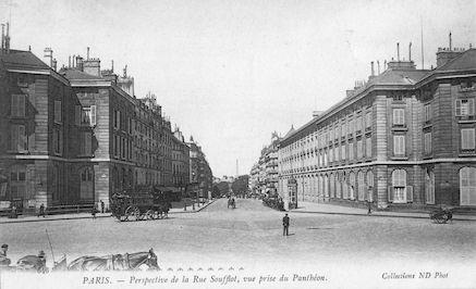 944 Perspective de la rue Soufflot vue de la place du Panthéon