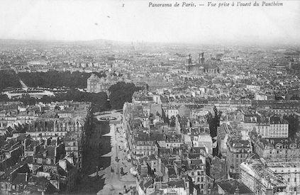 945 Panorama de Paris. Vue prise à l'ouest du Panthéon