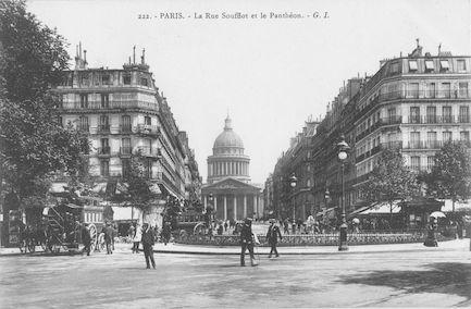 952 La rue Soufflot et le Panthéon
